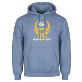 Light Blue Fleece Hoodie-Southern University Football Helmet