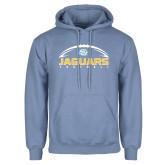 Light Blue Fleece Hoodie-Jaguars Football w/ Ball