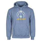 Light Blue Fleece Hoodie-Jaguars Basketball Contour Lines