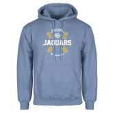 Light Blue Fleece Hoodie-Jaguars Baseball w/ Seams