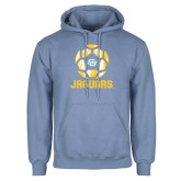 Light Blue Fleece Hoodie-Jaguars Soccer Geometric