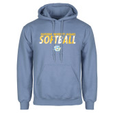 Light Blue Fleece Hoodie-Southern University Jaguars Softball Texture