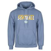 Light Blue Fleece Hoodie-Southern University Jaguars Softball Texture