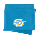 Light Blue Sweatshirt Blanket-Interlocking SU