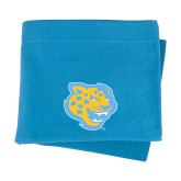 Light Blue Sweatshirt Blanket-Jaguar Head
