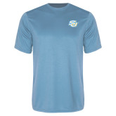 Performance Light Blue Tee-Interlocking SU