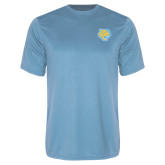 Performance Light Blue Tee-Jaguar Head