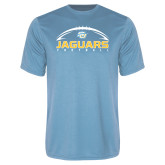 Performance Light Blue Tee-Jaguars Football w/ Ball