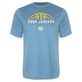 Performance Light Blue Tee-SUBR Jaguars Basketball Half Ball
