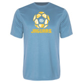 Syntrel Performance Light Blue Tee-Jaguars Soccer Geometric