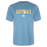 Performance Light Blue Tee-Southern University Jaguars Softball Texture