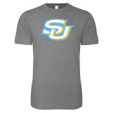 Next Level SoftStyle Heather Grey T Shirt-Interlocking SU
