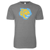 Next Level SoftStyle Heather Grey T Shirt-Jaguar Head