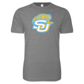 Next Level SoftStyle Heather Grey T Shirt-SU w/ Jaguar