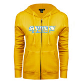 ENZA Ladies Gold Fleece Full Zip Hoodie-Southern Jaguars