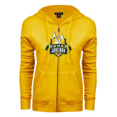 ENZA Ladies Gold Fleece Full Zip Hoodie-The Human Jukebox Official Mark