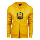 ENZA Ladies Gold Fleece Full Zip Hoodie-Fabulous Dancing Dolls Official Mark