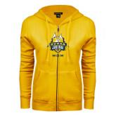 ENZA Ladies Gold Fleece Full Zip Hoodie-The Human Jukebox - Mom