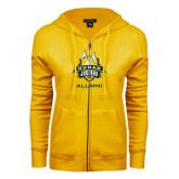 ENZA Ladies Gold Fleece Full Zip Hoodie-The Human Jukebox - Alumni