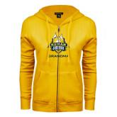 ENZA Ladies Gold Fleece Full Zip Hoodie-The Human Jukebox - Grandma