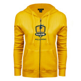 ENZA Ladies Gold Fleece Full Zip Hoodie-Fabulous Dancing Dolls - Alumni