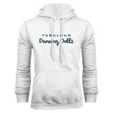 White Fleece Hoodie-Fabulous Dancing Dolls Wordmark