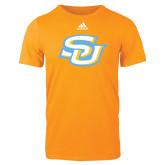 Adidas Gold Logo T Shirt-Interlocking SU
