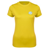 Ladies Syntrel Performance Gold Tee-Interlocking SU