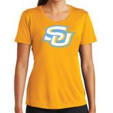 Ladies Syntrel Performance Gold Tee-Interlocking SU