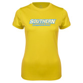 Ladies Syntrel Performance Gold Tee-Southern Jaguars