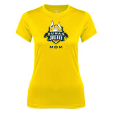 Ladies Syntrel Performance Gold Tee-The Human Jukebox - Mom
