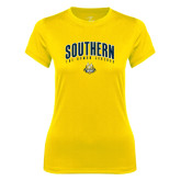 Ladies Syntrel Performance Gold Tee-Arched Southern