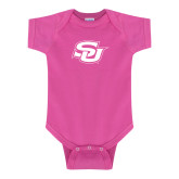 Fuchsia Infant Onesie-Interlocking SU