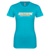 Next Level Ladies SoftStyle Junior Fitted Ice Blue Tee-Southern Jaguars