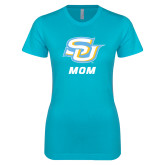 Next Level Ladies SoftStyle Junior Fitted Ice Blue Tee-Mom