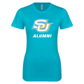 Next Level Ladies SoftStyle Junior Fitted Ice Blue Tee-Alumni