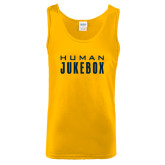 Gold Tank Top-Human Jukebox Wordmark