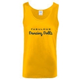 Gold Tank Top-Fabulous Dancing Dolls Wordmark