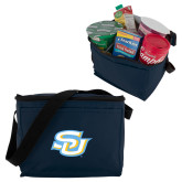 Koozie Six Pack Navy Cooler-Interlocking SU