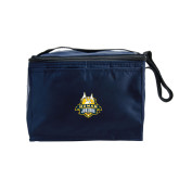 Koozie Six Pack Navy Cooler-The Human Jukebox Official Mark