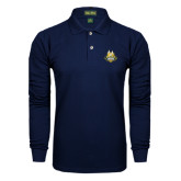 Navy Long Sleeve Polo-The Human Jukebox Official Mark