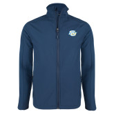 Navy Softshell Jacket-Interlocking SU