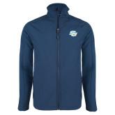 Navy Softshell Jacket-Interlocking SU