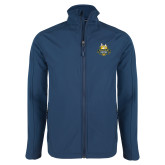 Navy Softshell Jacket-The Human Jukebox Official Mark