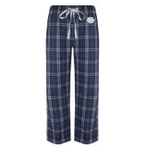 Navy/White Flannel Pajama Pant-Interlocking SU