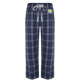 Navy/White Flannel Pajama Pant-Jaguar Head