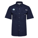 Columbia Bonehead Navy Short Sleeve Shirt-Interlocking SU