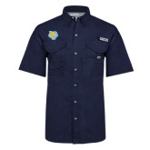 Columbia Bonehead Navy Short Sleeve Shirt-Jaguar Head