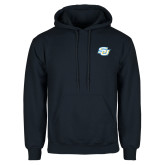 Navy Fleece Hoodie-Interlocking SU