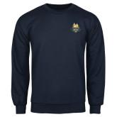Navy Fleece Crew-The Human Jukebox Official Mark